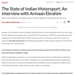 The State of Indian Motorsport: An interview with Armaan Ebrahim - Sports Keeda (27-05-15)