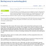 Racing away to motoring glory - The Hindu (31-05-15)